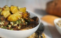 Brazilian Farro with Roasted Pineapple Recipe
